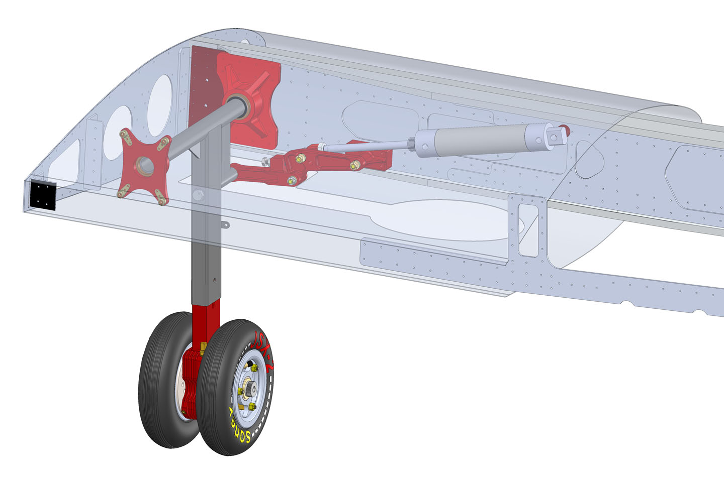 SubSonex Retractable Main Landing Gear