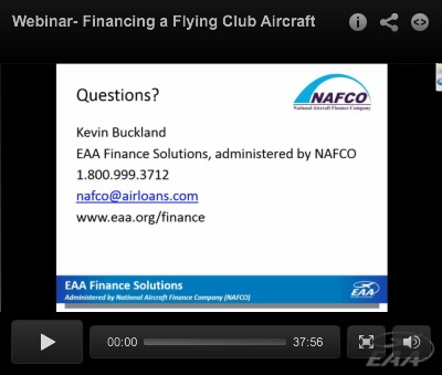 NAFCO Webinar: Financing a Flying Club Aircraft