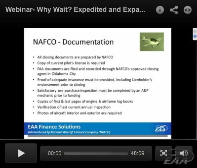 NAFCO Webinar: Why Wait? Expedited and Expanded Aviation Financing