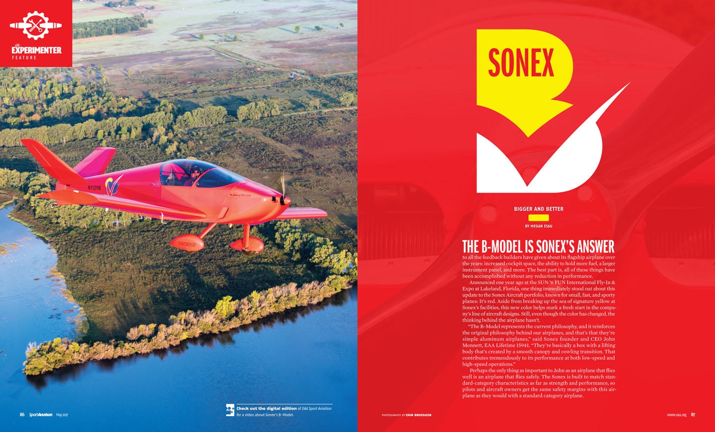 The Sonex B Kit Aircraft Aviation Knee Key Systems Wiring Diagram Sport May 2017 Model Feature