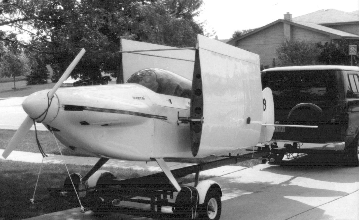 Sonerai Towed on Trailer